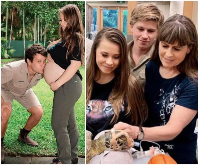 Heavily pregnant Bindi Irwin is still working hard, but friends are asking her to slow down