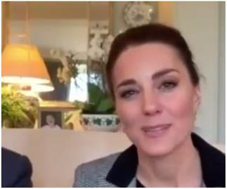 Duchess Catherine and Prince William's latest video call from their lounge included a sweet detail in the background