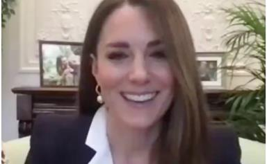 Duchess Catherine makes a surprise appearance from her living room in lockdown as she shares a special message