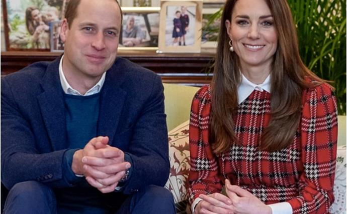 Duchess Catherine's vibrant tartan outfit steals the show as she and Prince William make an appearance from lockdown