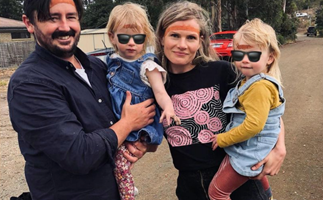 Home & Away's Bonnie Sveen gives fans an unprecedented glimpse at her twin daughters in a rare new photo