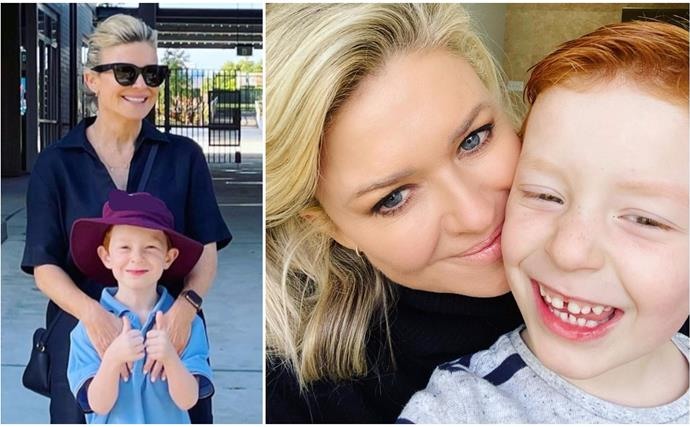 """There may have been a few tears"": Emily Symons shares an emotional update with her young son as he starts school"