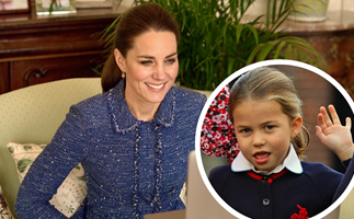 An adorable new video shows Princess Charlotte taking after mum Kate Middleton with a sweet twin moment