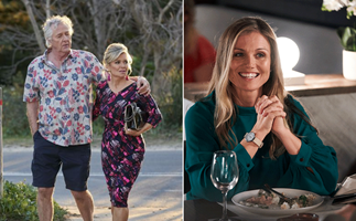 EXCLUSIVE: Emily Symons reveals her Home And Away love triangle isn't quite what it seems