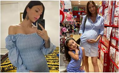 Heavily pregnant Maria DiGeronimo of Yummy Mummies seeks advice from her followers as she approaches her due date