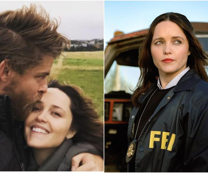Former Home & Away star Luke Mitchell's adorable cheerleading moment for his wife Rebecca Breeds will warm your heart