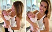 Her little Summer Baby! Ada Nicodemou introduces the world to her beautiful new niece