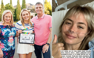 Neighbours star Lilly Van der Meer shares emotional update from hospital bed following surgery