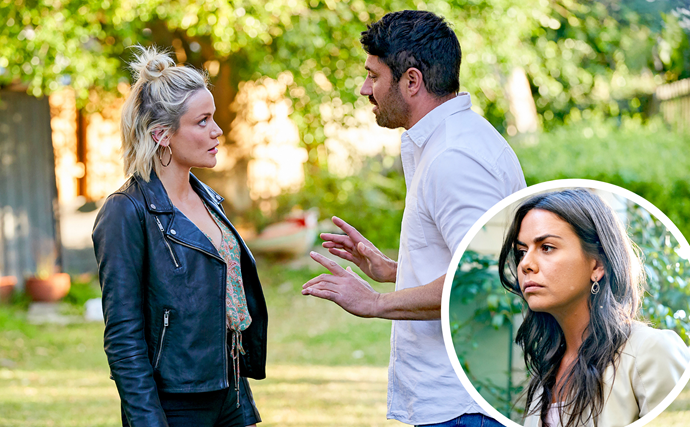 Trouble in paradise? Home And Away's newcomer Mia threatens to come between Ari and Mackenzie