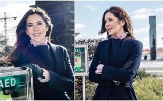 A glowing Crown Princess Mary emerges from lockdown in a preppy wintry outfit