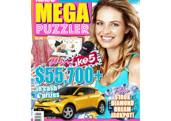 Take 5 Mega Puzzler Issue 62 Online Entry Coupon