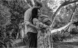 In celebration of International Women's Day, a new picture of Duchess Meghan, Prince Harry and their son Archie has surfaced as they prepare to welcome a baby girl