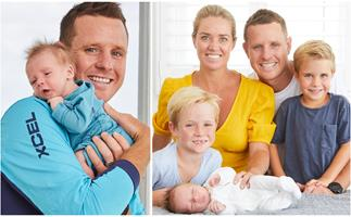 """Bondi Rescue's Ryan Clarke welcomes his THIRD baby: """"He'll be surfing in no time!"""""""