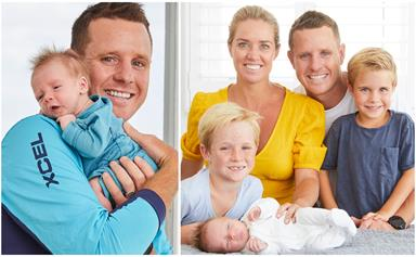 "Bondi Rescue's Ryan Clarke welcomes his THIRD baby: ""He'll be surfing in no time!"""