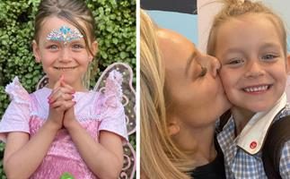 Carrie Bickmore and partner Chris Walker pay tribute to daughter Evie as she rings in a very special milestone