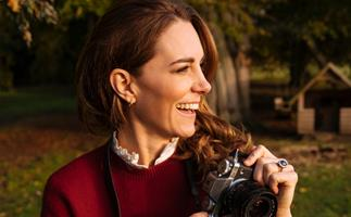 This looks familiar... Duchess Catherine's ode to countryside red continues in a gorgeous new photo