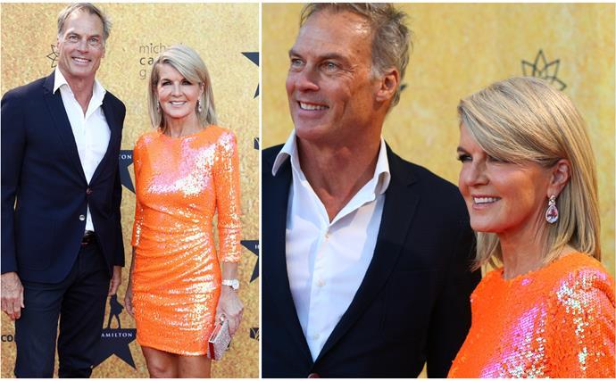 julie bishop orange dress