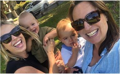 """""""Next time we'll be outnumbered!"""" Jayne Azzopardi & Sylvia Jeffreys share a final playdate with their sons before welcoming second children"""