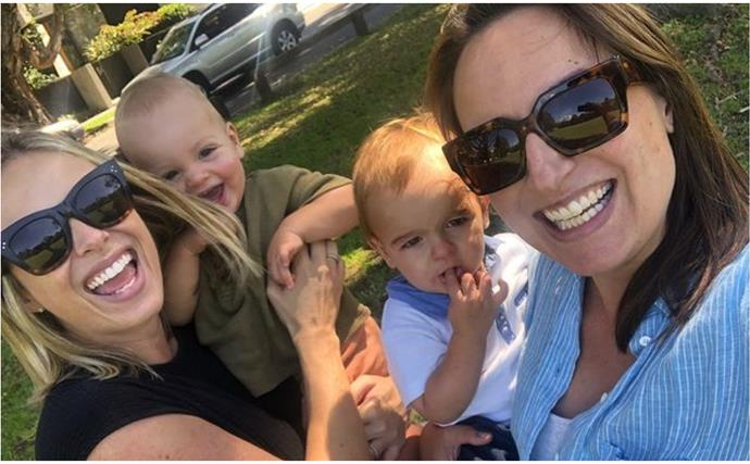 """Next time we'll be outnumbered!"" Jayne Azzopardi & Sylvia Jeffreys share a final playdate with their sons before welcoming second children"