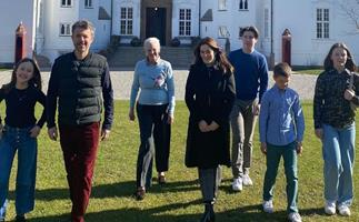 After months apart, Crown Princess Mary and her family are reunited with Queen Margrethe in time for Easter