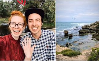 Emma Wiggle reveals the incredible location where Oliver Brian popped the question and gives a close-up look at her stunning engagement ring