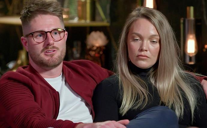 Fans are NOT impressed with MAFS' Melissa and Bryce's awkward jokes about the secret girlfriend bombshell