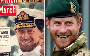 Seeing double: Prince Harry and Prince Philip could have passed as brothers in their youth