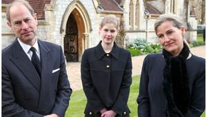 The royals gather together for a quiet service in honour of their beloved father and grandfather