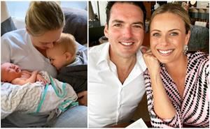 The lucky four! Sylvia Jeffreys and Peter Stefanovic's cutest pics with their newborn baby son, Henry