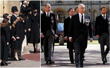 History in the making: The striking, emotional images of the royals as they said their final farewell to Prince Philip