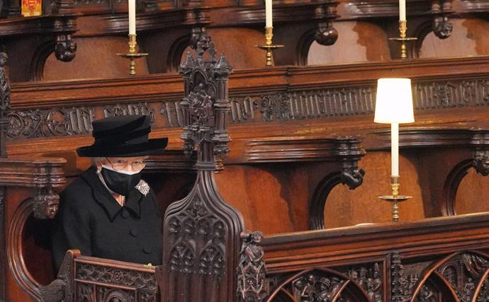 Without saying a word, The Queen sent a message much deeper than that of her own vulnerability by sitting alone at her husband's funeral