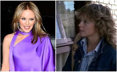 Kylie Minogue celebrates a whopping 35 years since her first Neighbours episode with a brilliant flashback