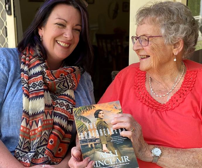 Coral Hinds and author Alli Sinclair