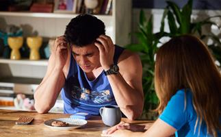 Home And Away favourite Justin's life is on the line when he suffers a shock overdose