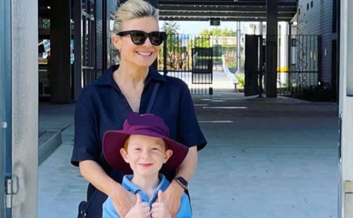 Home & Away star Emily Symons' son gets surprised by Australian icon, Ray Meagher on day out