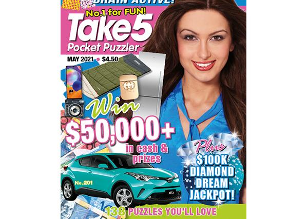 Take 5 Pocket Puzzler Issue 201 Online Entry Coupon