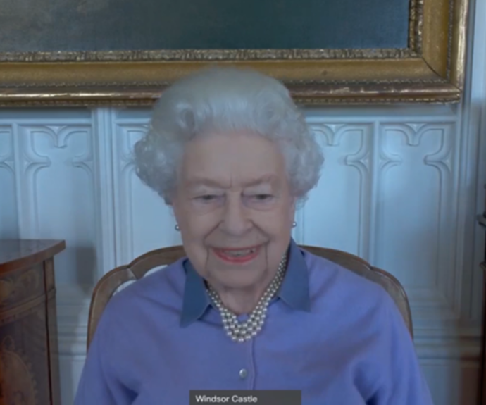 The Queen has made her first official appearance since Prince Philip's funeral in a poignantly powerful choice of outfit