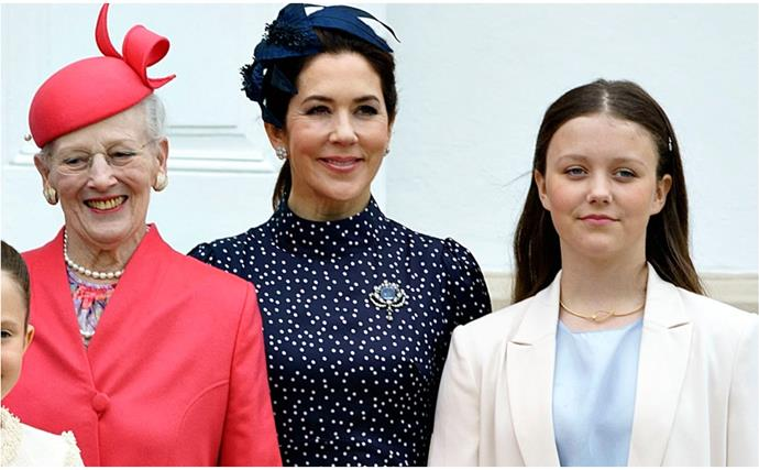 Crown Princess Mary's eldest daughter is just like her fashionable mum in a glorious cream-on-cream ensemble