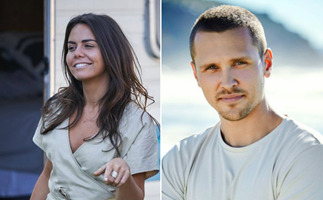 Sneaky photos from the set of Home And Away spoil a steamy romance between Mac and newcomer Logan