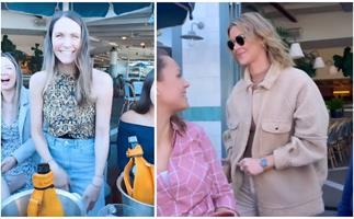 Laura Byrne and Brittany Hockley just gate-crashed a fan meetup and the reaction is the purest thing you'll see today