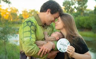 Bindi Irwin and her husband Chandler Powell commemorate sweet family first with daughter Grace