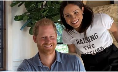 Duchess Meghan is the ultimate LA cool-girl in an unseen photo with Prince Harry in their US home