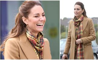 Duchess Catherine makes a case for camel tones before a quick outfit change during her Scotland tour