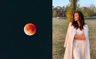 These awestruck Aussie celebs' hearts were totally eclipsed during last night's lunar phenomenon