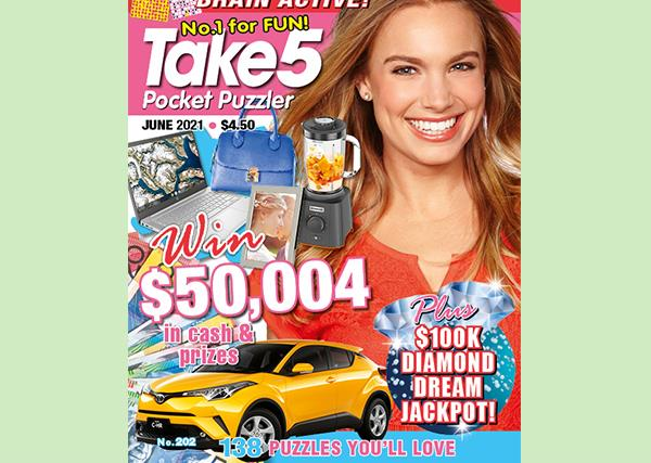 Take 5 Pocket Puzzler Issue 202 Online Entry Coupon