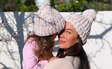 Megan Gale takes on the less glamorous side of parenting in a gnarly and unexpectedly relatable moment