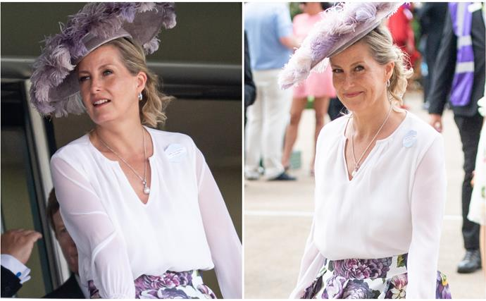 Sophie of Wessex makes a striking purple statement at Royal Ascot as her heartbreaking interview about Prince Philip goes to air