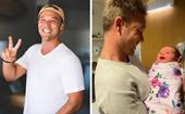 Lincoln Lewis introduces his new niece to the world - and they already have something in common