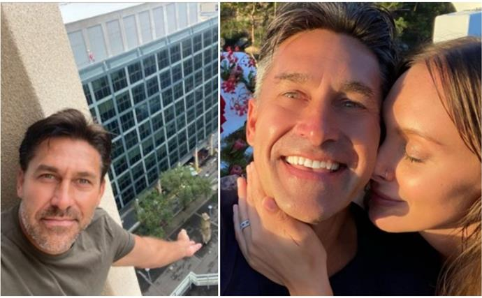 Jamie Durie managed to have a date with his heavily pregnant fiancee while in quarantine