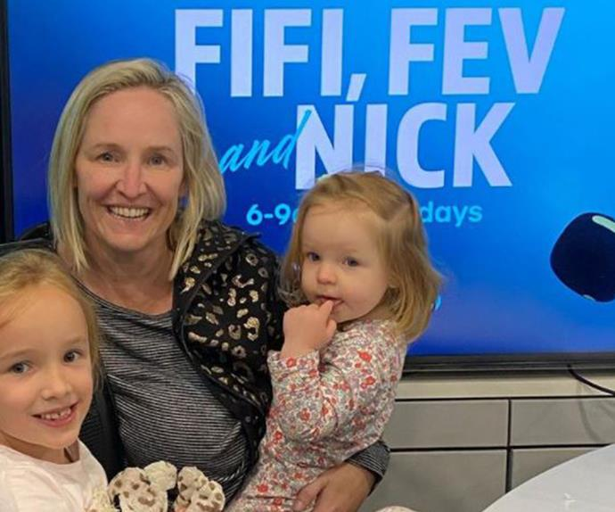 She is still young, but Fifi Box's daughter Trixie Belle may have already found her calling - as she looks to Brendan Fevola for inspiration